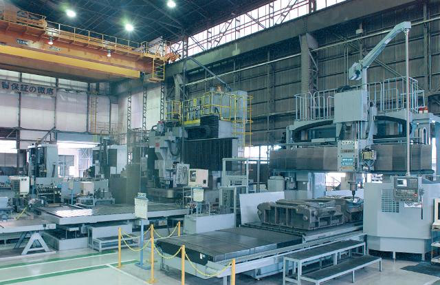 大型機械加工ライン